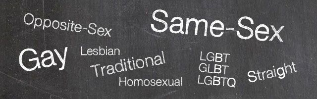 Different terms for LGBT